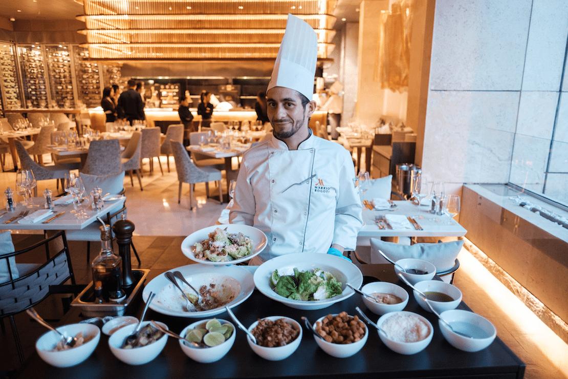 Steaks y langosta a la parrilla, en el restorán del Marriott Bogota