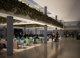 Render remodelación aeropuerto Olaya Herrera de Medellín.